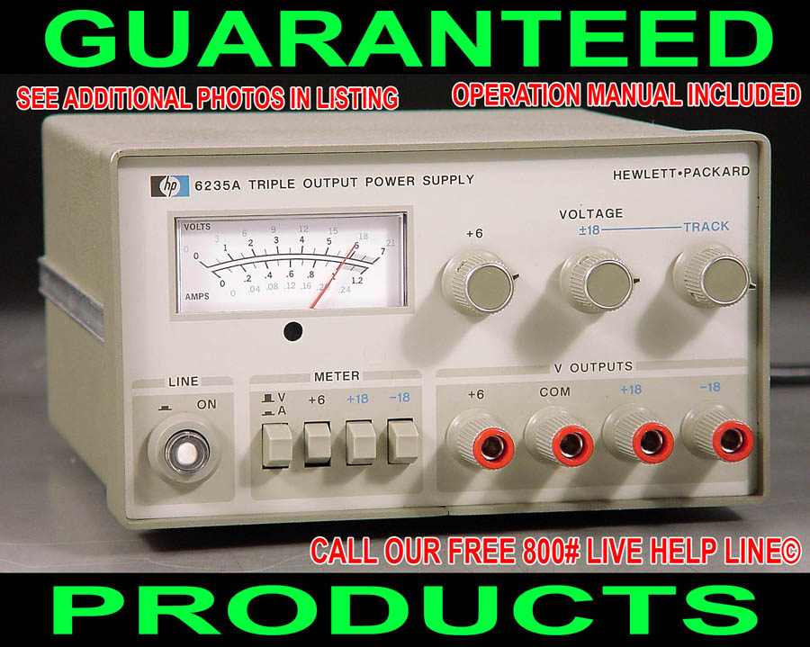 Agilent Hp 6235a Triple Output Variable Regulated Metered
